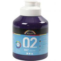 Pittura acrilica opaca per la scuola, opaco, violetto, 500 ml/ 1 bott.