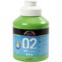 Pittura acrilica opaca per la scuola, opaco, verde chiaro, 500 ml/ 1 bott.