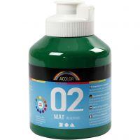 Pittura acrilica opaca per la scuola, opaco, verde scuro, 500 ml/ 1 bott.
