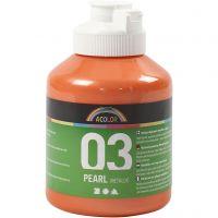 Vernice acrilica scolastica metallizzata, metallico, arancio, 500 ml/ 1 bott.