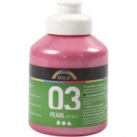 Vernice acrilica scolastica metallizzata, metallico, rosso chiaro, 500 ml/ 1 bott.