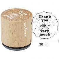 Timbro in legno, 1 pz