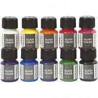 Colore per ceramica - assortimento, colori asst., 10x35 ml/ 1 conf.