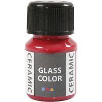 Pittura per vetro e ceramica, rosso carmine, 35 ml/ 1 bott.