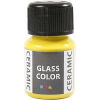 Pittura per vetro e ceramica, giallo limone, 35 ml/ 1 bott.
