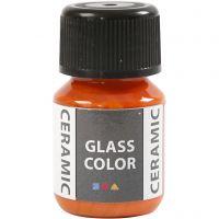 Pittura per vetro e ceramica, arancio, 35 ml/ 1 bott.
