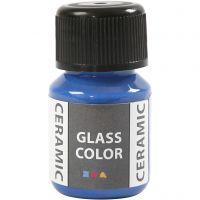 Pittura per vetro e ceramica, blu brillante, 35 ml/ 1 bott.