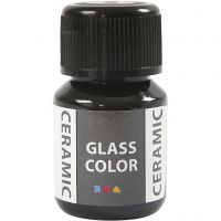 Pittura per vetro e ceramica, nero, 35 ml/ 1 bott.