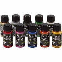 Colore per tessuti, madreperla, colori asst., 10x50 ml/ 1 conf.