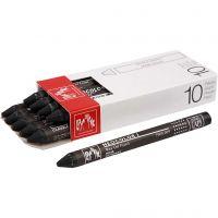 Neocolor I Pastelli, L: 10 cm, spess. 8 mm, black (009), 10 pz/ 1 conf.