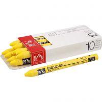 Neocolor I Pastelli, L: 10 cm, spess. 8 mm, yellow (010), 10 pz/ 1 conf.
