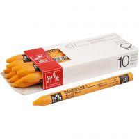 Neocolor I Pastelli, L: 10 cm, spess. 8 mm, orange (030), 10 pz/ 1 conf.