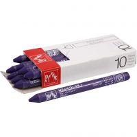 Neocolor I Pastelli, L: 10 cm, spess. 8 mm, violet (120), 10 pz/ 1 conf.