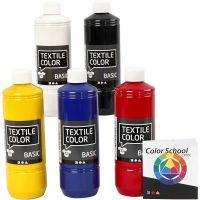 Colore per tessuti, colore primario, 5x500 ml/ 1 conf.