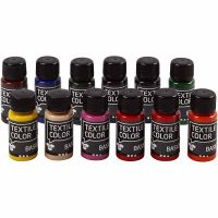 Colore per tessuti, 12x50 ml/ 1 conf.
