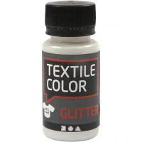 Colore per tessuti, glitter, transparent, 50 ml/ 1 bott.