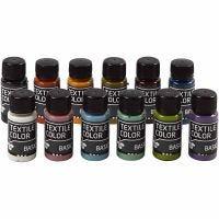 Colore per tessuti, colori asst., 12x50 ml/ 1 conf.