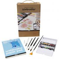 Kit di apprendimento dell'acquerello, A5, 200 g, 1 set