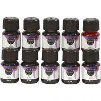 Acquerello liquido, colori asst., 10x30 ml/ 1 conf.