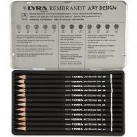 Set matite da disegno Art Design, durezza F, 12 pz/ 1 conf.