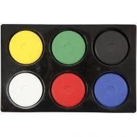 Acquerelli, H: 16 mm, diam: 44 mm, colore primario, 1 set
