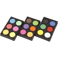 Acquerelli, H: 16 mm, diam: 44 mm, colori neon, colore aggiuntivo, 1 set