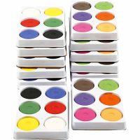 Acquerelli, H: 19 mm, diam: 57 mm, rosso primario, colore aggiuntivo, 12 vass./ 1 conf.