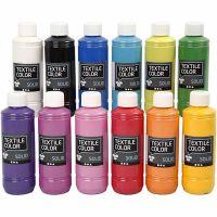 Base per tessuti, opaca, colori asst., 12x250 ml/ 1 conf.