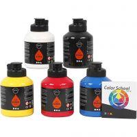 Pittura Pigment Art School, colore primario, 5x500 ml/ 1 conf.