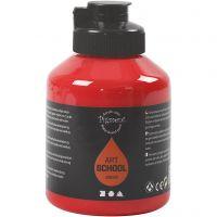 Pittura Pigment Art School, transparent, rosso cadmio, 500 ml/ 1 bott.