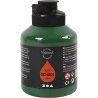 Pittura Pigment Art School, semi transparent, verde scuro, 500 ml/ 1 bott.