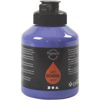 Pittura Pigment Art School, semi transparent, viola blu, 500 ml/ 1 bott.