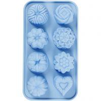 Stampo in silicone, piccole torte, misura buco 40x45 mm, 25 ml, 1 pz
