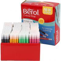 Berol Colourfine, ampiezza tratto 0,3-0,7 mm, colori asst., 288 pz/ 1 conf.