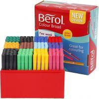 Pennarello Berol, ampiezza tratto 1-1,7 mm, colori asst., 288 pz/ 1 conf.