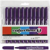 Pennarelli Colortime, ampiezza tratto 5 mm, viola, 12 pz/ 1 conf.