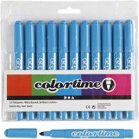 Pennarelli Colortime, ampiezza tratto 5 mm, azzurro, 12 pz/ 1 conf.