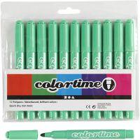 Pennarelli Colortime, ampiezza tratto 5 mm, verde chiaro, 12 pz/ 1 conf.