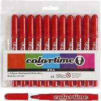 Pennarelli Colortime, ampiezza tratto 5 mm, rosso, 12 pz/ 1 conf.