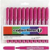 Pennarelli Colortime, ampiezza tratto 5 mm, rosato, 12 pz/ 1 conf.