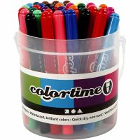 Pennarelli Colortime, ampiezza tratto 5 mm, colori asst., 42 pz/ 1 conf.