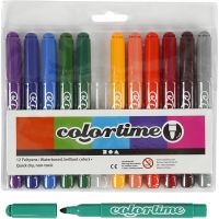 Pennarelli Colortime, ampiezza tratto 5 mm, colore aggiuntivo, 12 pz/ 1 conf.