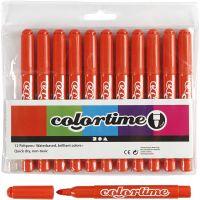 Pennarelli Colortime, ampiezza tratto 5 mm, arancio scuro, 12 pz/ 1 conf.