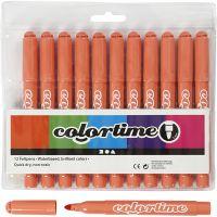Pennarelli Colortime, ampiezza tratto 5 mm, mandarin, 12 pz/ 1 conf.