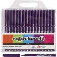 Pennarelli Colortime, ampiezza tratto 2 mm, viola, 18 pz/ 1 conf.