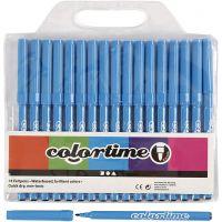 Pennarelli Colortime, ampiezza tratto 2 mm, azzurro, 18 pz/ 1 conf.
