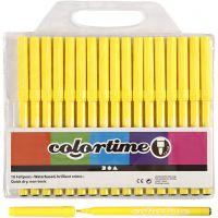 Pennarelli Colortime, ampiezza tratto 2 mm, giallo limone, 18 pz/ 1 conf.