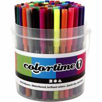 Pennarelli Colortime, ampiezza tratto 2 mm, colori asst., 100 pz/ 1 secch.