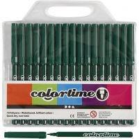 Pennarelli Colortime, ampiezza tratto 2 mm, verde scuro, 18 pz/ 1 conf.