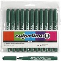 Pennarelli Colortime, ampiezza tratto 5 mm, verde, 12 pz/ 1 conf.